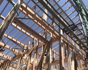 福山市新築住宅の上棟