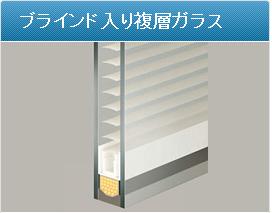 ブラインド式複層ガラス