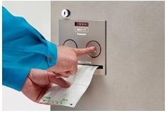 コンボ電源不要のなつ印ボタンを押すだけ