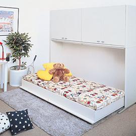 広くないスペースを格納ベッドで有効利用1